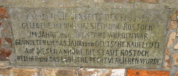 Gedenktafel zur Verleihung des Stadtrechtes im Jahre 1218