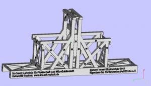 Entwurf des neuen Glockenstuhls