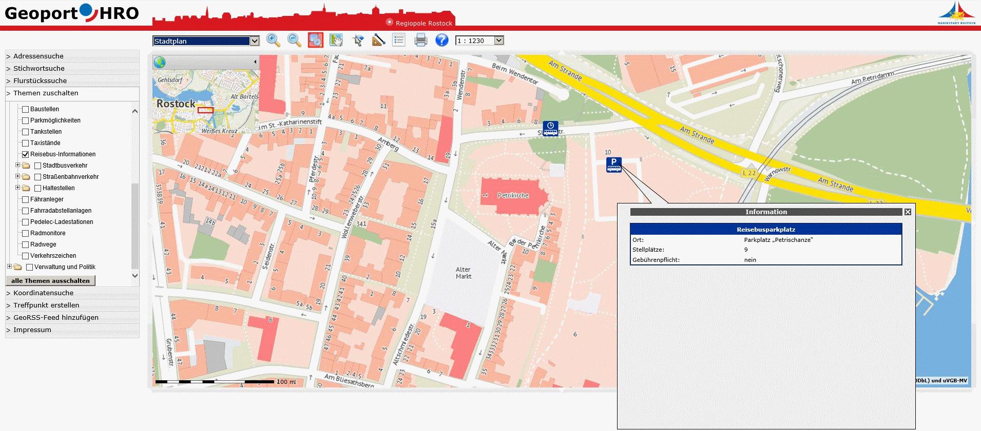 neuer Parkplatz mit Busparkplätzen