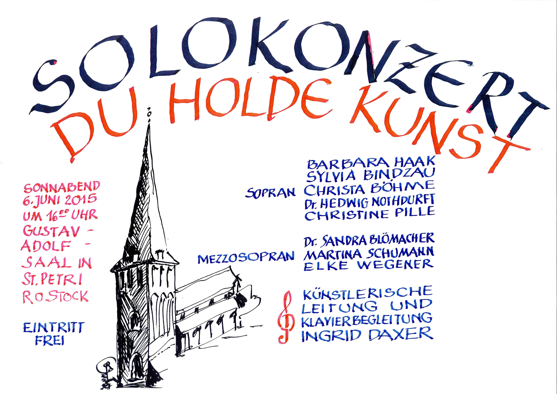 Plakat zum Konzert am 06.06.2015 in der Petrikirche