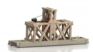 3D-Modell des südlicher Glockenstuhls in der Petrikirche
