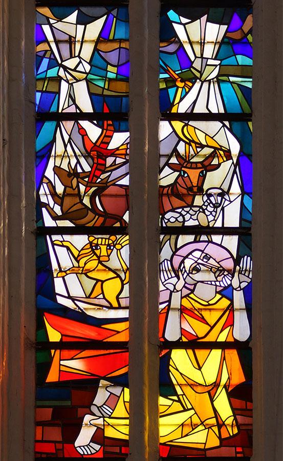 Fensterbild in St. Petri in Rostock