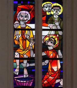 Fensterbild in St. Petri zu Rostock