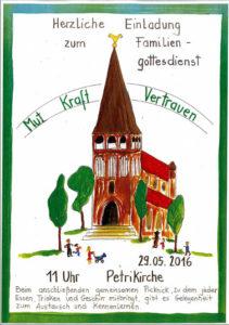 Einladungsplakat, Gestaltung: Evangelischer Kindergarten der Innenstadtgemeinde Rostock