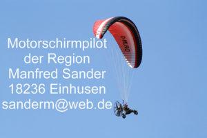 Der Motorschirmpilot Manfred Sander