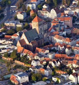 Rostock Nikolaikirche, Luftaufnahme von Nordosten